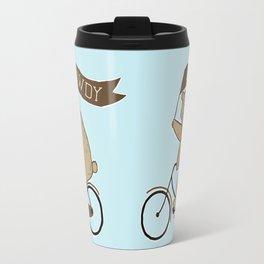 Friendly Neighborhood Bicycle Bear Travel Mug