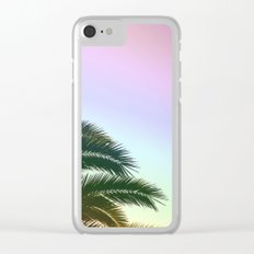 Palm Leaves  - Tropical Sky - Chilling Time Clear iPhone Case