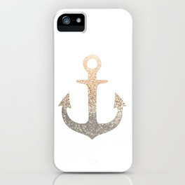GOLD ANCHOR iPhone Case