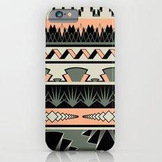 art deco stripes - salmon iPhone 6s Slim Case