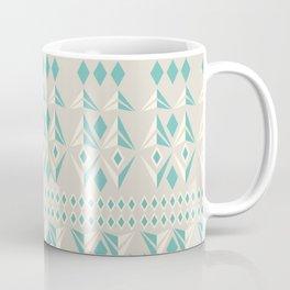 Tribal geometric pattern - light blue and grey Coffee Mug