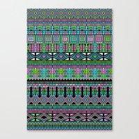 aztec Canvas Prints featuring Aztec by Fimbis