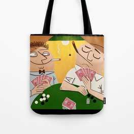 Poker Faces Tote Bag