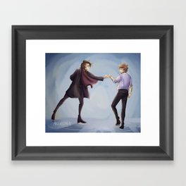 Ice Skating Framed Art Print