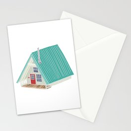 Little A Frame Cabin Stationery Cards