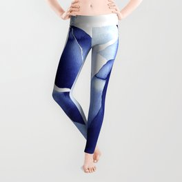 Royal Blue Palms no. 2 Leggings