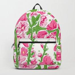 Hollyhocks multi color Backpack