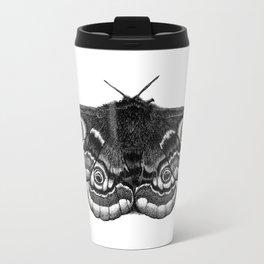 Moth Dotwork Drawing Travel Mug