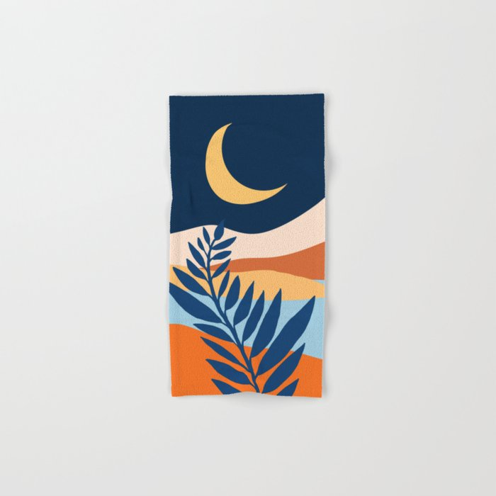 Moon + Night Bloomer / Mountain Landscape Hand & Bath Towel
