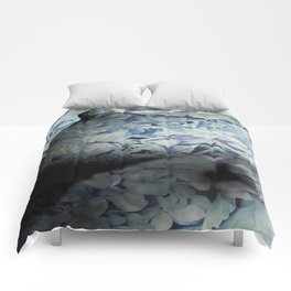 Blue Floral Breasts Comforters