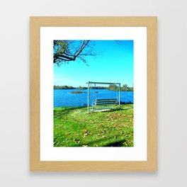 Swinging by the Lake Framed Art Print