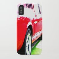 mustang iPhone & iPod Cases featuring Mustang by LeeRay Flowers