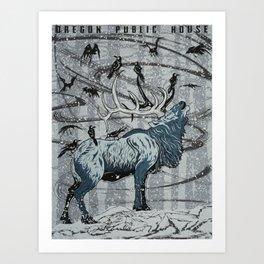 Oregon Public House Poster - 12 Art Print