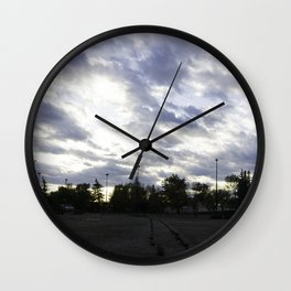 Parking lot skies Wall Clock