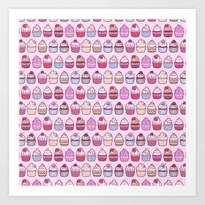 Cupcakes Galore Art Print