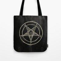 pentagram Tote Bags featuring Pentagram by Corpse inc