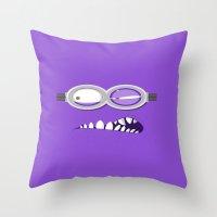 minion Throw Pillows featuring MINION by Acus