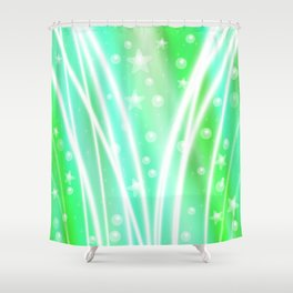 Green Celebration Background Shower Curtain