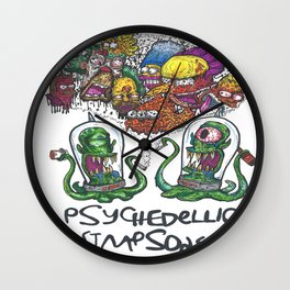 Psychedelic Simpsons Wall Clock