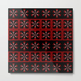 Dark tiled pattern Metal Print
