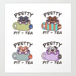 pretty pittie! Art Print