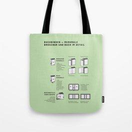Buchbinden – Merkmale Broschur und Buch im Detail (in German) Tote Bag