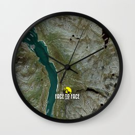 Face To Face - Ape & Man Wall Clock