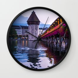 Evenings in Lucerne Wall Clock