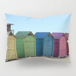 Colorful beach cabinets Pillow Sham
