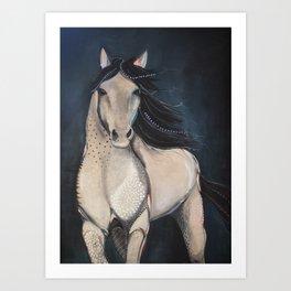 Midnight Wild Horse Art Print