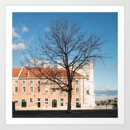 l'arbre dans la ville Art Print