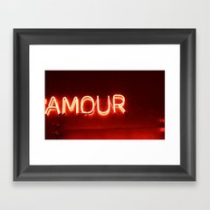 amour Framed Art Print