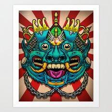 Justice Barong Mask Art Print