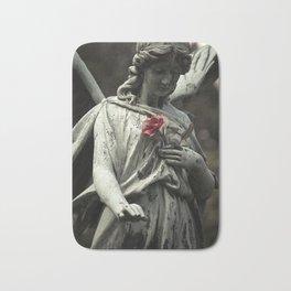 Angel with a rose Bath Mat