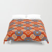 persian Duvet Covers featuring Persian Parlor by Peter Gross
