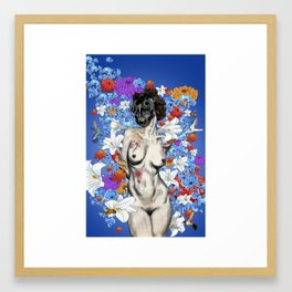 Woman | Hood. No.1 Flowers For The Dying Framed Art Print