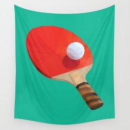 Ping Pong Paddle polygon art Wall Tapestry