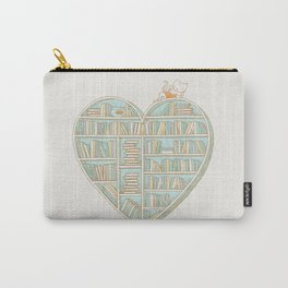 I Heart Books Carry-All Pouch