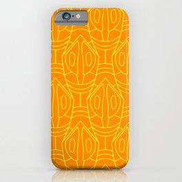 Orange and yellow lozenge pattern iPhone Case