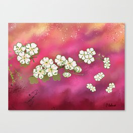 Cherry Blossom Sky Canvas Print