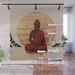 Buddha marquetry Wall Mural