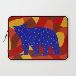 Bear Silhouette with Autumn-Colored Sprinkles Laptop Sleeve