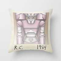 1984 Throw Pillows featuring R.C. - 1984 by dann matthews