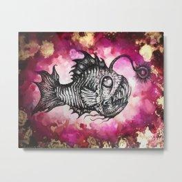 Angry Angler Metal Print