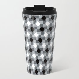 Blurry Houndstooth Travel Mug