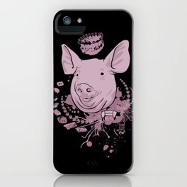 pig parts iPhone Case