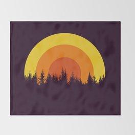 summer mountain Throw Blanket