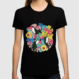 Toucan floral pattern T-shirt