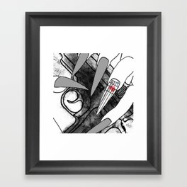 Straw Purchase Illustration Framed Art Print