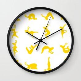 K's Yogi Bunnies Yellow Wall Clock